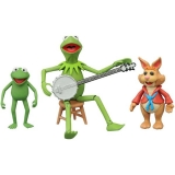 Figurky Kermit with Robin and Bean Bunny - The Muppets Select 2-Pack Series 1