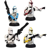 Bysty Clone Trooper Bust-Ups 4-Pack - Star Wars Attack of the Clones