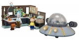 Stavebnice Rick and Morty Large Construction Set Spaceship & Garage