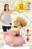 Kartonová postava Dave Minion riding - Despicable Me Lifesize Cardboard Cutout