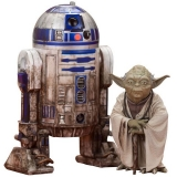 Figurky Yoda & R2-D2 Dagobah Version - Star Wars Episode V ARTFX+ Statue 2-Pack