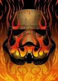 Plechový obraz Star Wars Metal Poster Masked Troopers Flames 68 x 48 cm
