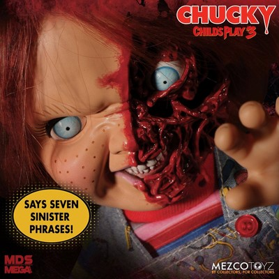 Figurka Talking Pizza Face Chucky - Child´s Play 3 Designer Series