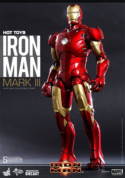 Figurka Iron Man Mark III - MMS Diecast Action Figure 1/6 - Hot Toys