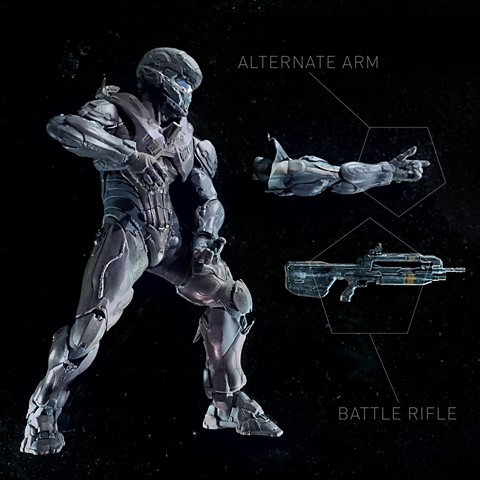 Figurka Spartan Locke - Halo 5 Guardians Deluxe Action Figure - 25 cm
