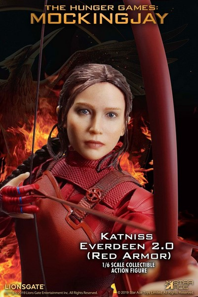 Figurka Katniss Everdeen Red Armor Ver. - The Hunger Games Mockingjay Part 1 MFM Action Figure 1/6