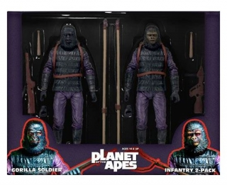 Figurky Classic Gorilla Soldier Infantry - Planet of the Apes Action Figure 2-Pack