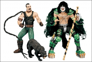 Figurka PETER CRISS WITH ANIMAL WRANGLER - KISS SERIES 2 - PSYCHO CIRCUS