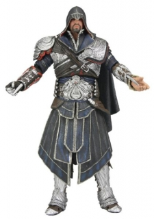 Figurka Ezio Onyx Costume Hooded - Assassin's Creed Brotherhood - Neca