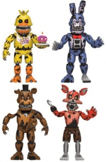 Figurky Nightmare - Five Nights at Freddy's Action Figures 4-Pack