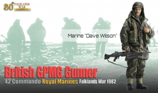 Figurka Dave Wilson - Royal MarinesBritish GPMG Gunner, 42 Commando - Dragon