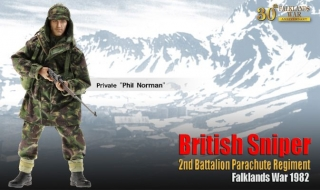 Figurka Private Phil Norman, British Sniper, 2nd Battalion Parachute Regiment,Falklands War 1982