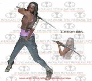 Figurka Michonne - The Walking Dead Deluxe Action Figure - McFarlane - 25 cm