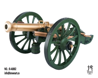 Dělo French Gribeauval 12 Pounder Cannon (Weathered Version) 1/6 Military Replica