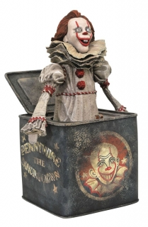Soška Pennywise in Box - It Chapter Two Gallery PVC Diorama