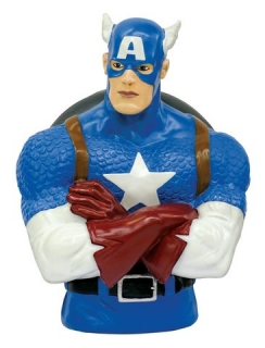 Pokladnička Captain America - Marvel Comics Coin Bank - 20 cm