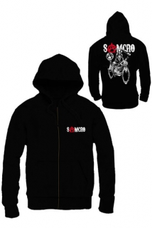 Mikina Sons of Anarchy - Zákon gangu - Zipped Hooded Sweater SAMCRO Reaper