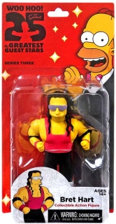 Figurka Bret Hart -  The Simpsons - Greatest Guest Stars - Series 3 - Neca