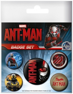 Sada odznaků Ant-Man Pin Badges 5-Pack