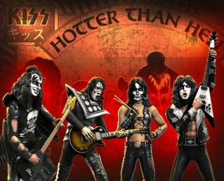 "Sada sošek The Kiss ""Hotter Than Hell"" Rock Iconz Statues Set (4)"