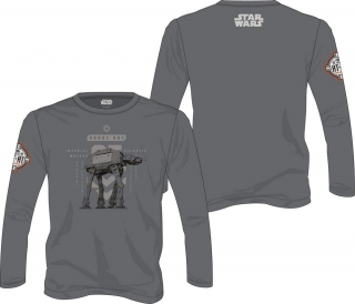 Tričko Star Wars Rogue One Long Sleeve AT-AT Walker grey