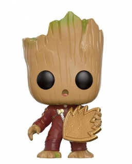 Figurka Young Groot with Shield - Guardians of the Galaxy 2 POP! Vinyl Bobble-Head