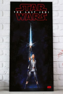Obraz Star Wars Episode VIII Glass Poster Rey 60 x 30 cm