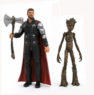 Figurky Thor & Groot - Avengers Infinity War Marvel Select Action Figures