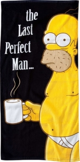 Osuška Simpsons Beach Towel The Last Perfect Man 75 x 150 cm
