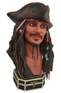 Bysta Jack Sparrow - Pirates of the Caribbean Legends in 3D Bust 1/2