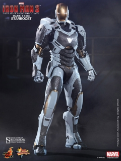 Figurka Iron Man Mark XXXIX Starboost - Iron Man 3 Movie Masterpiece Action Figure 1/6